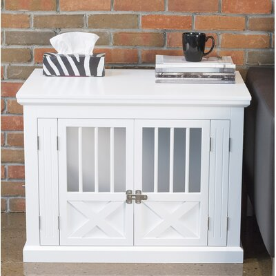 Triple Door Pet Crate Color: White