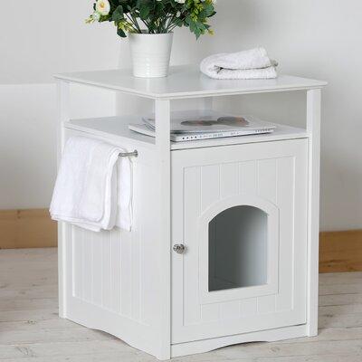 Allen Litter Box End Table Color: White
