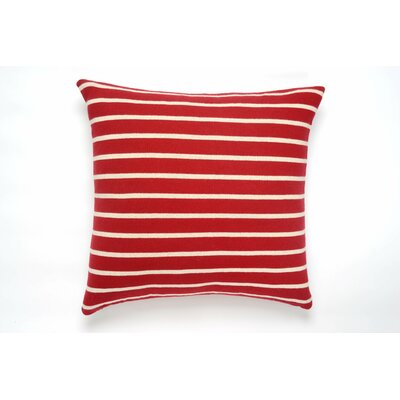 Beach Stripes Cotton Throw Pillow Color: Red/Natural