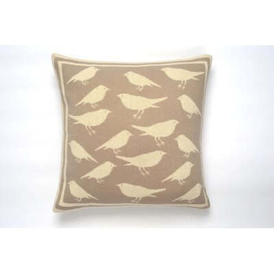 Bird Cushion Cotton Throw Pillow Color: Stone/Natural