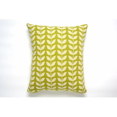 Leaf Cotton Throw Pillow Color: Green/Natural