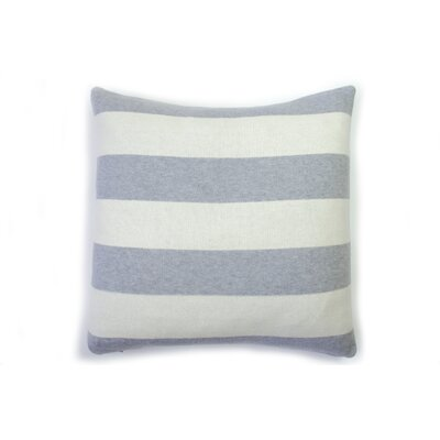 Rugby Stripe Cotton Throw Pillow Color: Gray Melange Natural