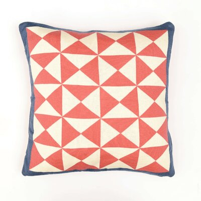 Wind Farm Cushion Cotton Throw Pillow Color: Pink/Natural/Dark Gray