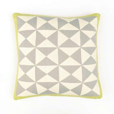 Wind Farm Cushion Cotton Throw Pillow Color: Gray/Natural/Green