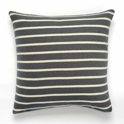 Beach Stripes Cotton Throw Pillow Color: Gray/Natural
