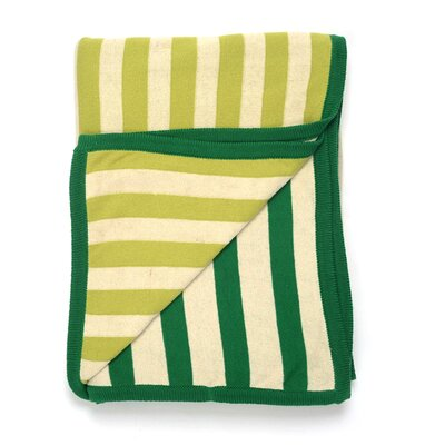 Sneaky Strokes Cotton Throw Color: Green/Light Green