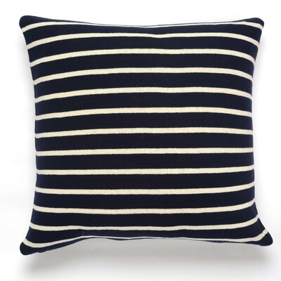 Beach Stripes Cotton Throw Pillow Color: Navy/Natural