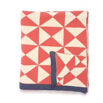Wind Farm Cotton Throw Color: Pink/Natural/Dark Gray