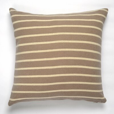 Beach Stripes Cotton Throw Pillow Color: Stone/Natural
