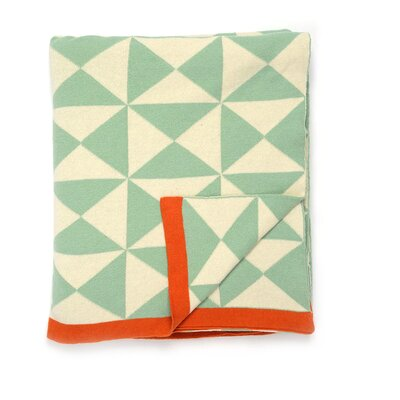 Wind Farm Cotton Throw Color: Sage Green/Natural/Orange