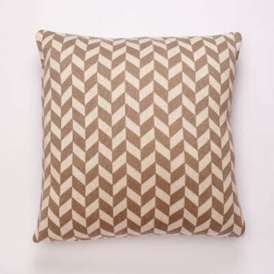Polygon Cotton Throw Pillow Color: Stone/Natural