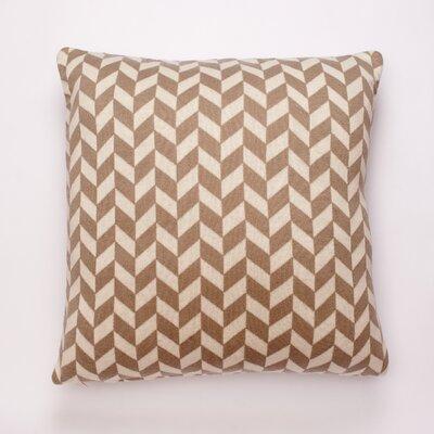 Polygon Cotton Throw Pillow Color: Stone/Natural
