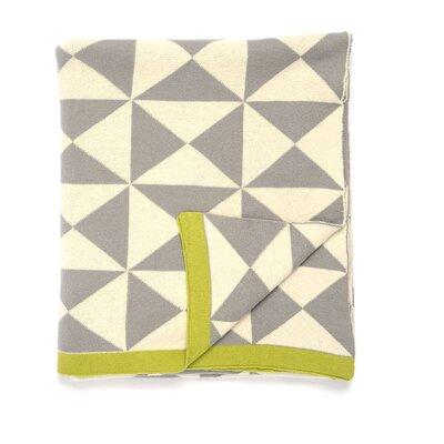Wind Farm Cotton Throw Color: Gray/Natural/Green