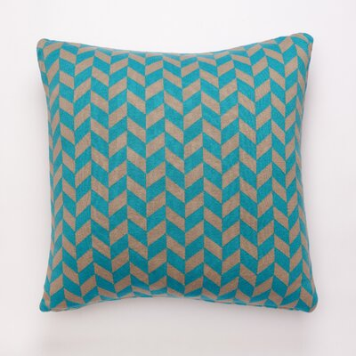 Polygon Cotton Throw Pillow Color: Aqua/Stone