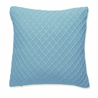 Diamond Throw pillow Fabric: Beach Blue