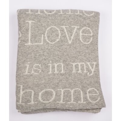 Love Is In My Home Lambswool Throw