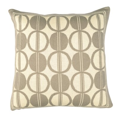 Circle Trellis Pillow Cover Color: Cloudy Gray/Natural