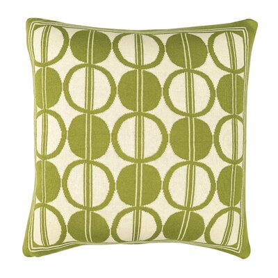 Circle Trellis Pillow Cover Color: Deep Green/Natural