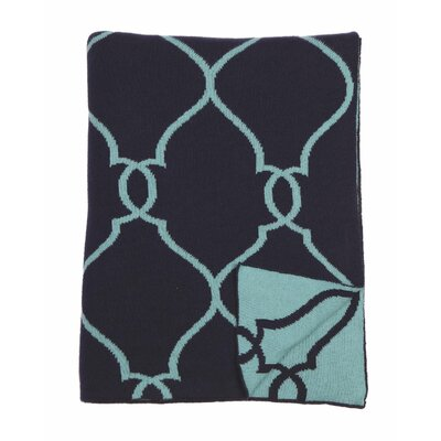 Lattice 100% Cotton Throw Color: Navy Beach Blue