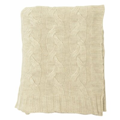 Hampton 100% Merino Wool Throw Color: Beige