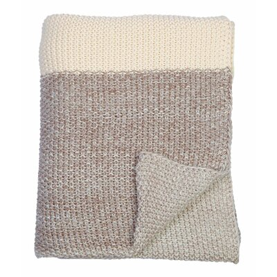 Marl Moss Stripe Throw Color: Warm Gray/Natural/Stone