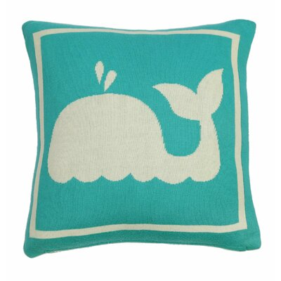 Whale Throw Pillow Color: Turquoise/Natural