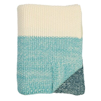 Marl Moss Stripe Throw Color: Navy/Natural/Beach Blue