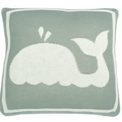 Whale Throw Pillow Color: Gray
