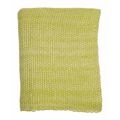 Motley Moss 100% Combed Cotton Throw Color: Leaf Green