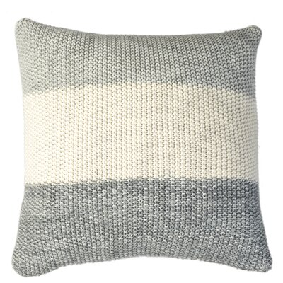 Marl Moss Stripe Pillow Cover Color: Melange Gray Combo