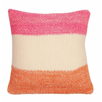 Marl Moss Stripe Pillow Cover Color: Burnt Orange/Natural/Fuchsia