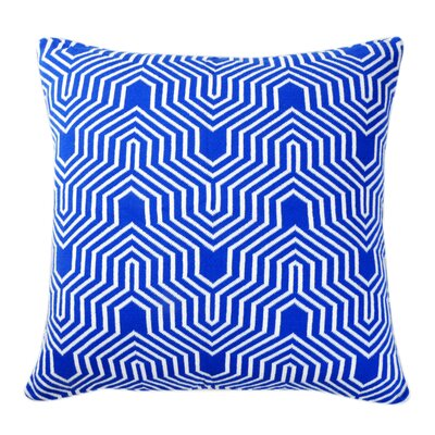 Akaar Pillow Cover Color: Dazzling Blue/Natural