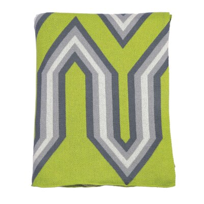 Oliver 100% Cotton Throw Color: Green Combo