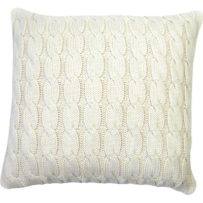 Big Cable Pillow Cover Color: Natural