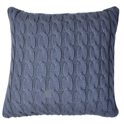 Big Cable Pillow Cover Color: Navy