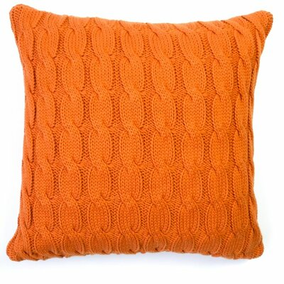 Big Cable Pillow Cover Color: Burnt Orange