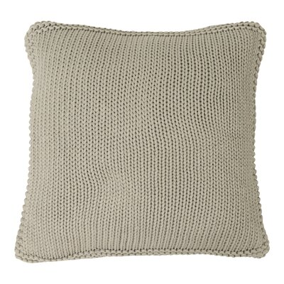 Harmony Cotton Throw Pillow Color: Light Gray