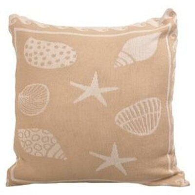 Sea Shell Cotton Throw Pillow