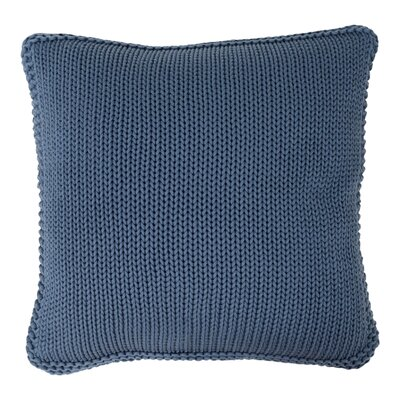 Harmony Cotton Throw Pillow Color: Midnight Blue