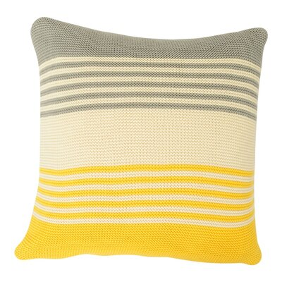 Shannon Cotton Throw Pillow Color: Light Gray / Natural / Yellow