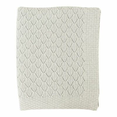Pointelle Cotton Throw Color: Soft Gray Melange