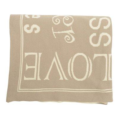 Word Cotton Throw Color: Stone / Natural