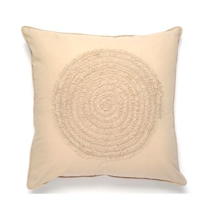 Water Cotton Pillow Cover Color: Beige