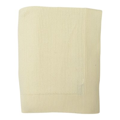 Mini Moss Cotton Throw Color: Ivory