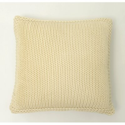 Harmony Cotton Throw Pillow Color: Natural