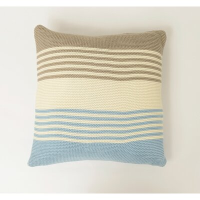 Shannon Cotton Throw Pillow Color: Stone / Natural / Sea Blue