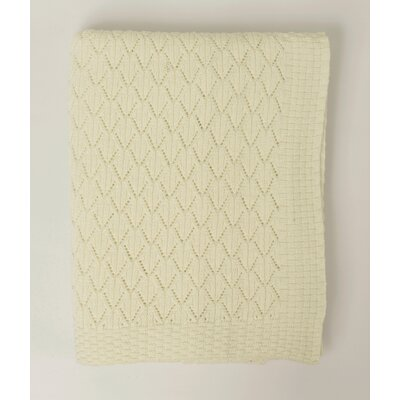 Pointelle Cotton Throw Color: Ivory