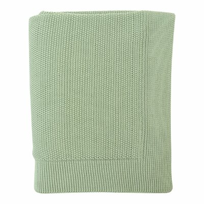 Mini Moss Cotton Throw Color: Mint