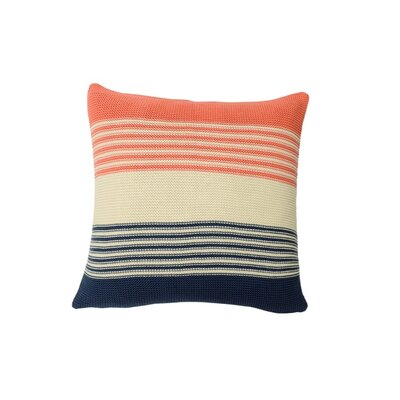 Shannon Cotton Throw Pillow Color: Midnight Blue / Natural / French Pink