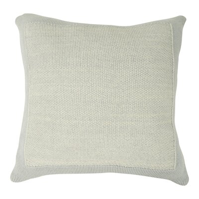Mini Moss Sham Color: Soft Gray/Natural Marled